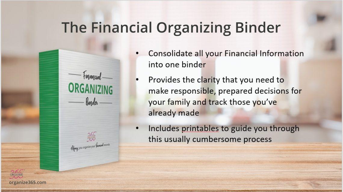 Financial Organizing Binder