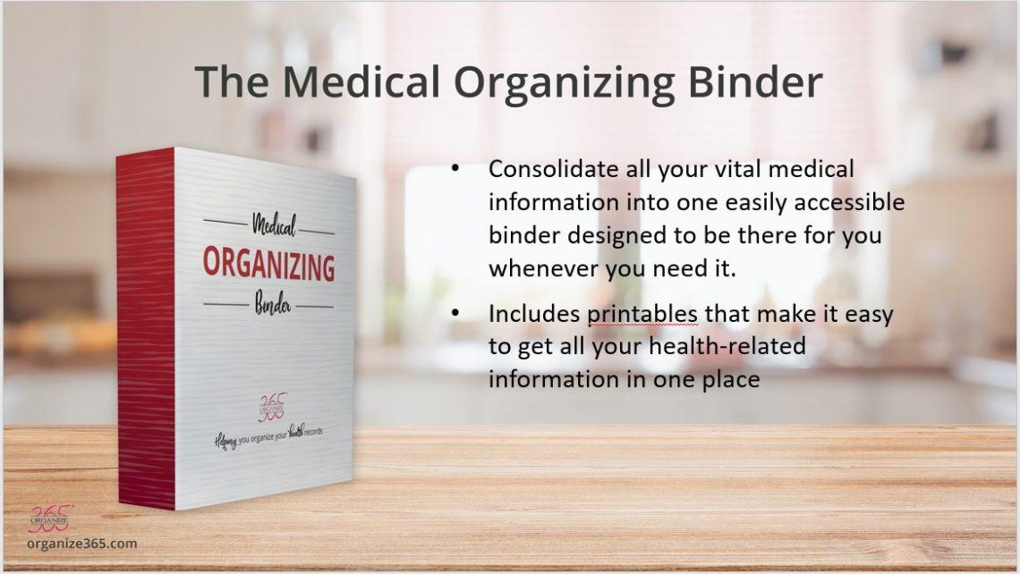 Medical Organizing Binder