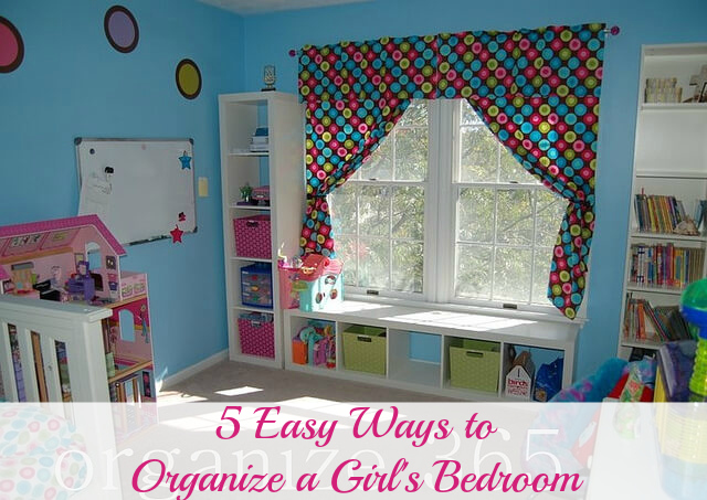 Professional Organizer Lisa Woodruff shares 5 easy ways to organize a girl's bedroom.