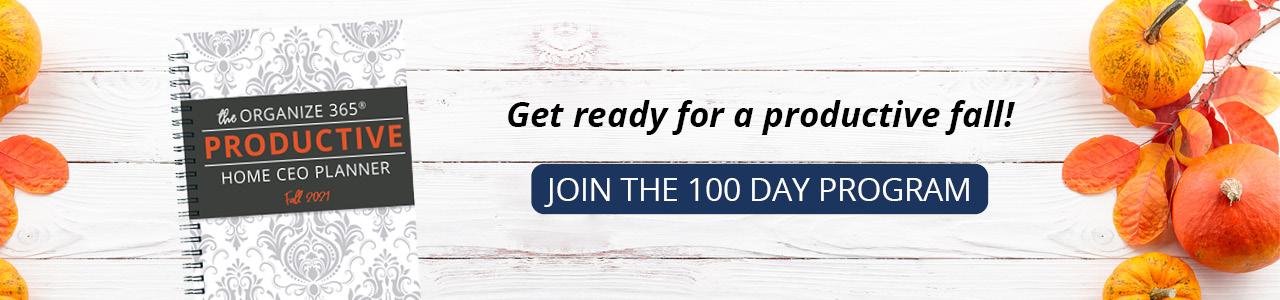 Link to 100 Day Home Organization Program