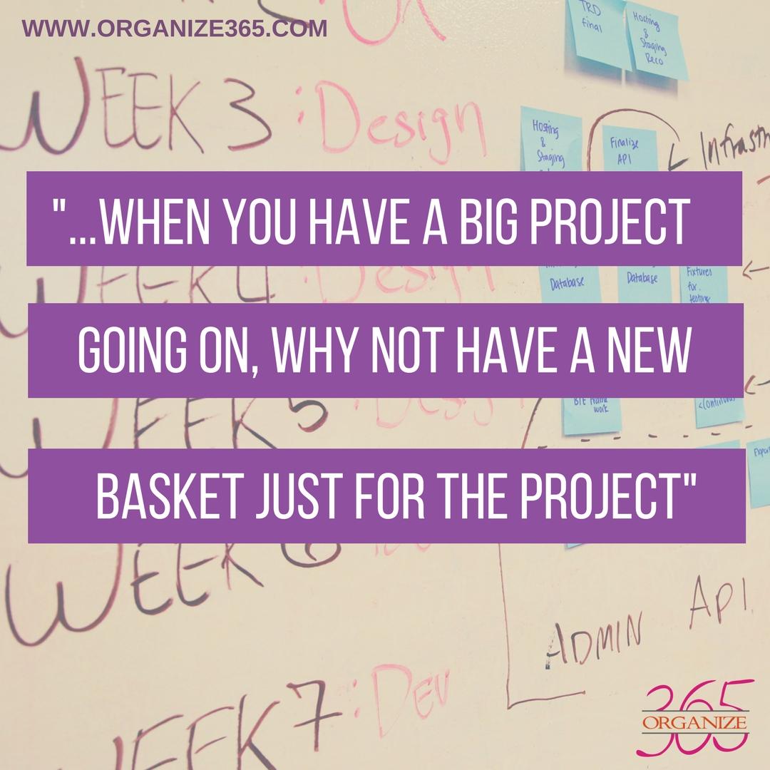 Project Sunday Basket | Organize 365
