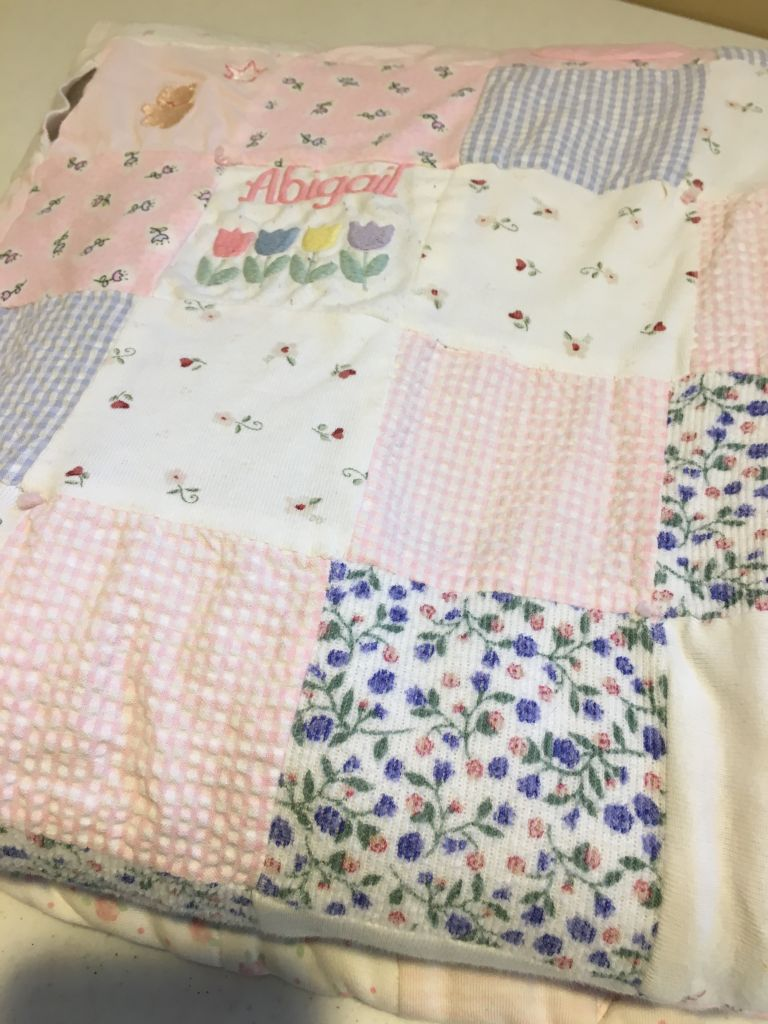 Baby Blanket Made from Baby Clothes