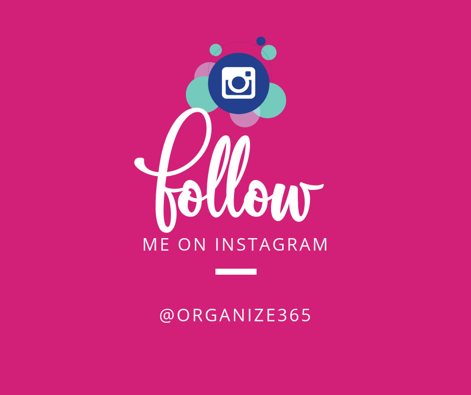 Follow Organize 365 on Instagram | Organize 365