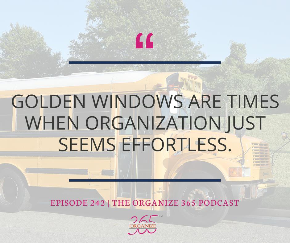 Golden Windows easy organization | Organize 365