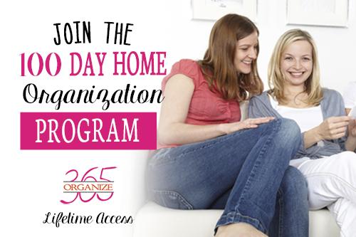 100 Day Home Organization Program   Organize 365