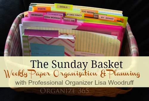 Weekly Paper Organization and Planning