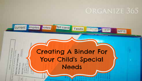 Creating A Binder For Your Child's Special Needs | From paperwork to tax deductions and from pills to therapy, Professional organizer Lisa Woodruff shows you how to organize your kid's medical needs.