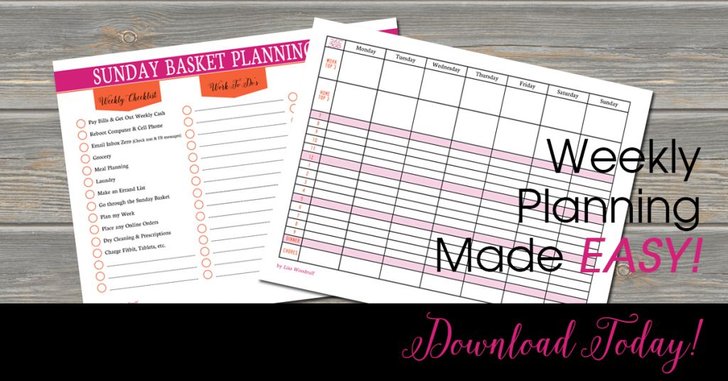 Weekly Planning Printables | Every Sunday, I use these free planning printables to plan my week to help keep me on track and productive throughout the week!