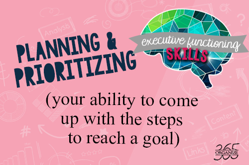 Planning & Prioritizing | How ADHD affects the executive functioning skills of planning, prioritization and organization.