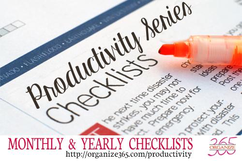productivity checklists