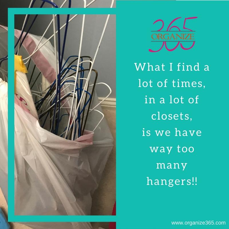 Kid's Clothing Organization Tip: Use Same Hangers | Organize 365